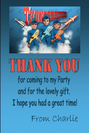 Personalised Thunderbirds Thank You Cards